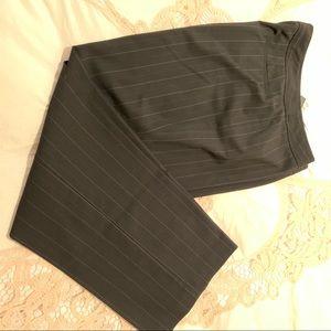 Rafaella Stripped black Mauve Career pants